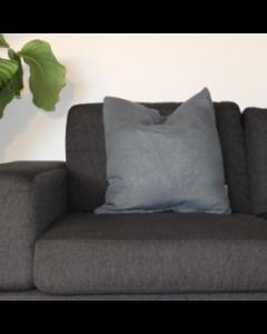 Pyntepude, Hør, 50x50 cm, Blå, Naturfyld