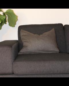 Pyntepude, Hør, 40x60 cm, Grå, Naturfyld
