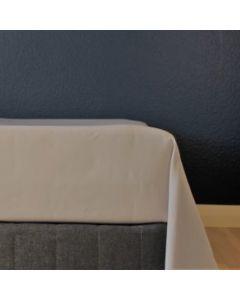 Glat lagen, 240x250 cm, Lys grå, Bomuldssatin