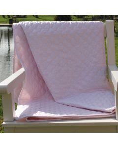 Plaid, Line, Pink striber, 140x200 cm, Bomuld