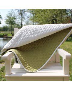 Plaid, Camilla, Sand striber, 140x200 cm, Bomuld