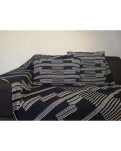 Pyntepude, Dallas, 100% strikket bomuld, Marine, 40x60 cm