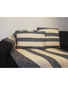 Pyntepude, Houston, 100% strikket bomuld, Marine, 40x60 cm