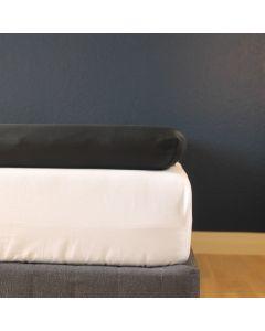 Kuvertlagen, 160x200x10 cm, Sort, Bomuldssatin