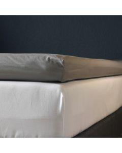 Kuvertlagen, 160x200x10 cm, Grå, Bomuldssatin
