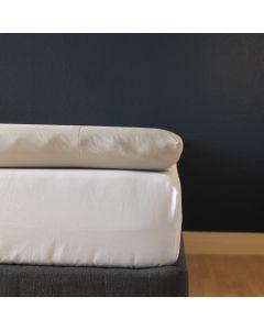 Kuvertlagen, 160x200x10 cm, Lys grå, Bomuldssatin