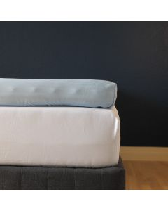 Kuvertlagen, 160x200x10 cm, Lys blå, Bomuldssatin