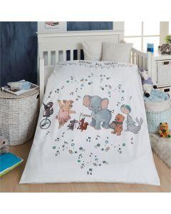 Junior sengetøj, Dream all night, M&P, 100x140cm, Beige striber
