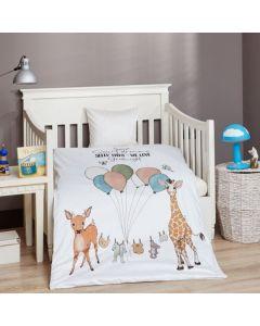 Junior sengetøj, Sleep tight, M&P, 100x140cm, grønne striber