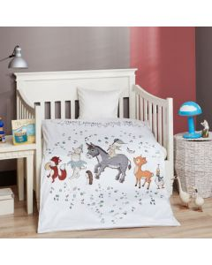 Junior sengetøj, Sweet dreams, M&P, 100x140cm, grønne striber