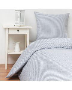 Sengetøj, Mille, 140x200 cm, Bomuld, Mørkeblå striber