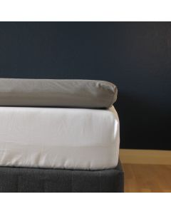Kuvertlagen, 180x200x10 cm, Grå, Bomuldssatin