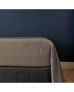 Glat lagen, 240x250 cm, Grå, Bomuldssatin