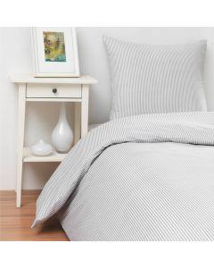 Sengetøj, Josefine, 200x200 cm, Bomuld, Grå striber