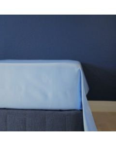 Glat lagen, 240x250 cm, Lys blå, Bomuldssatin