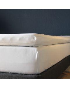 Kuvertlagen, 160x200x7+25, Hvid, Bomuldssatin
