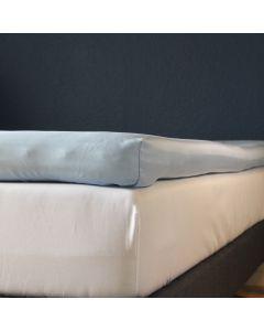 Kuvertlagen, 180x200x7+25, Lys blå, Bomuldssatin