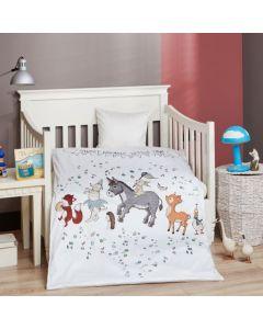 Baby sengetøj, Sweet dreams, M&P, 70x100cm, grønne striber
