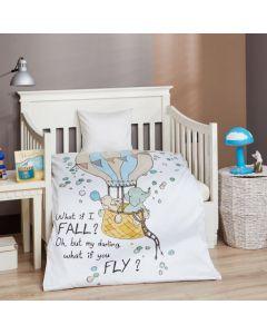 Baby sengetøj, What if I fall, M&P, 70x100cm, grønne striber