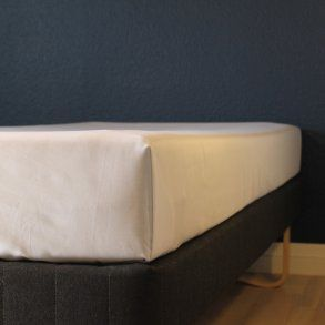 Glat lagen, 240x250 cm, Hvid, Bomuld