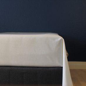 Glat lagen, 240x250 cm, Natur, Bomuldssatin