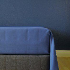 Glat lagen, 240x250 cm, Mørk blå, Bomuldssatin