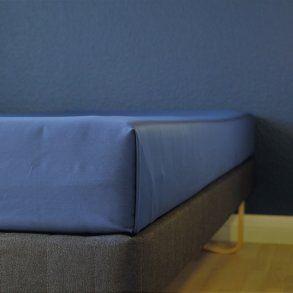 Glat lagen, 240x250 cm, Mørk blå, Bomuld